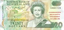 New Zealand 1996 Queen's 70th Birthday $20 Dollars Overprint - 2497 Printed