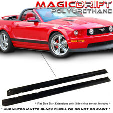 05-14 Ford Mustang V6 V8 GT MDP Style Side Skirt Rocker Extensions Splitters Lip