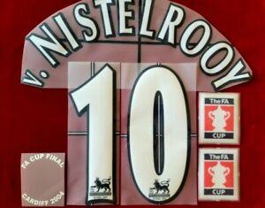 1996/06 Manchester United #10 V. NISTELROOY Home Soccer Name set Lextra Flock