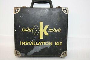 Vintage Kwikset Lock Set Installation Kit With Original Case