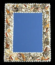 "Assorted Shell Wall Mount Mirror 15"" X 19"" Nautical Seashore Costal Beach Decor"