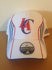 Los Angeles Clippers Adidas Center Court Stretch Fit hat L/XL White
