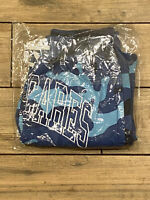 Brand New Who Cares Blue Camouflage Athletic Cotton Draw String Shorts  Small