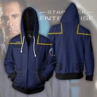 Mens Star Trek hoodie Sweatshirt Hoodie Jacket Cosplay Costume Coat New US