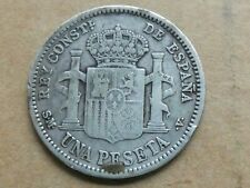 Una peseta, Spanje, Alfonso XIII, 1904, zilver, zeer goed