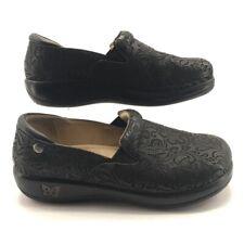 Alegria By PG Lite Womens Keli Clog Shoes Black Embossed Paisley 9.5/10 EUR 40