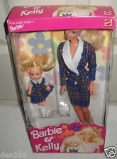#9225 NRFB Mattel Philippines Barbie & Kelly in Blue Plaid Matching Outfits