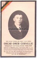 Doodsprentje politiek gevangene Cornillie ° Emelgem Izegem + KZ Tsjechië 1945