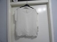 LC Lauren Conrad Women's 100% Bright White On Deck Top Size S RRP-$48.00