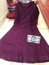 Beautiful chikan embroidery sequins work anarkali kurtis cotton