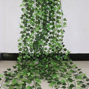 100Pcs Leaf 1 Piece 2.4M Home Decor Artificial Ivy Leaf Garland Plants Vine Fake