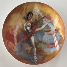 "Viletta China Plate 1979 Nutcracker Ballet ""Sugarplum Fairy� Coa"