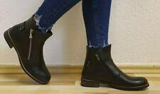 Damen -Stiefel, Stieffeletten, Boots, echtes Leder Schwarz - Neu/New.
