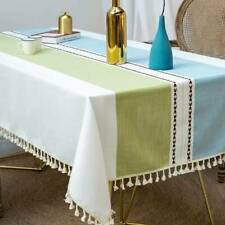 Rectangle Tablecloth Kitchen Dining Table Cover Cotton Linen Cosy For Home Use