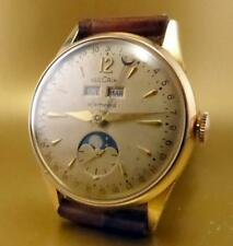 VINTAGE & RARE VULCAIN EFEMERID, NOT MOON PHASE, WITH DAY NIGHT TRIPLE DATE 1940