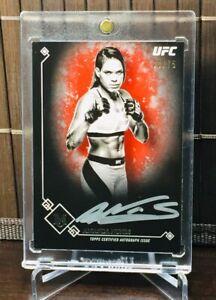 2017 Topps UFC/Museum ~ AMANDA NUNES (#33/75) SILVER INK! ON CARD AUTO!🥊🥊🥊