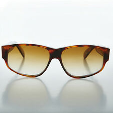 Mens Wide Rectangular Mod Vintage Sunglasses Tortoiseshell - Fez