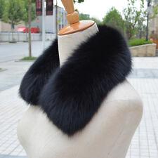 Luxury Real Farm Fox Fur Collar Women Scarf Shawl Stole Wrap Furry Neck Warm Hot