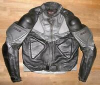 """ DAINESE"" Herren- Motorrad - Lederjacke / Biker- Jacke schwarz- grau ca. Gr. 50"