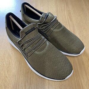 Hush Puppies Men's Khaki Textile Casual Shoes UK8