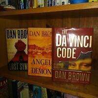 Lot 3 HC/DJ Dan Brown Angels Demons Da Vinci Code Lost Symbol