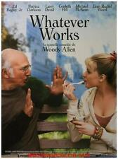 WHATEVER WORKS Movie Poster / Affiche Cinéma Woody Allen 53x40