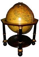 Vintage Mounted Navigator's Terrestrial Globe Model, 4 1/2 ft Tall