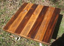 """RECLAIMED WOOD TABLE TOP 28"""" X 28"""" USA restaurant dining rustic coffee pub end"""