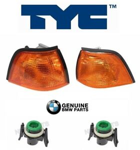 For BMW 318i 318ti 325i Set of Front Left & Right Turn Signal Lights w/ Sockets