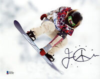 JAMIE ANDERSON SIGNED AUTOGRAPHED 8x10 PHOTO SNOWBOARDER OLYMPICS BECKETT BAS