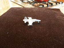 """Die Cast 3"""" Long Metal Fighter Jet Plane Silver Metal"""