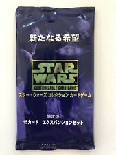 Star Wars CCG Sealed   Japanese A New Hope -  Factory Sealed Booster Pack