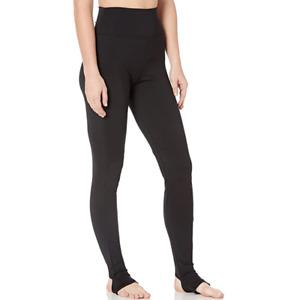 Capezio Womens Black Stirrup High-Waist Dancing Compression Leggings Size M $38