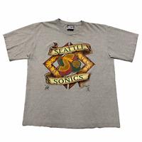 Size XL - 90s Lee Sport Seattle Sonics NBA Basketball Tee Shirt Made in USA VTG