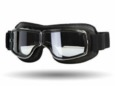 Vintage Retro Cafe Racer Riding Sports Motorcycle Scooter Goggles - Clear Lens