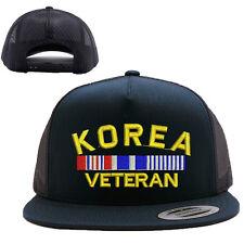KOREA VETERAN MESH TRUCKER SNAP CLOSURE CAP HAT