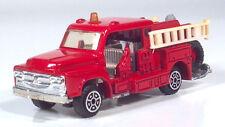 "Isuzu TXD23F Fire Engine Chemical Ladder Truck 3.75"" Scale Model & Figure"