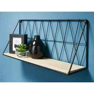 48cm Shelf Metal Wire Wall Floating Shelves Storage Decoration Fully Assembled