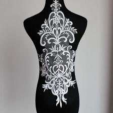 Big Bridal Lace Applique Embroidery Motif Trims Applique for Wedding Dress Black