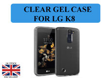 For LG K8 Transparent Crystal Clear Back Case Silicone Gel Case TPU Cover Skin