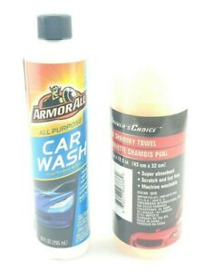 Armor All Purpose Car Wash Thick Foaming Suds 10oz PVA Shammy Towel USA Seller