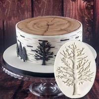Xmas Tree Branch Silicone Fondant Mold Cake Border Decoration Sugar Paste Mould
