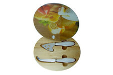 Cheese Board Apollo Glass With 2 Utensils Stored Under Sliding Glass