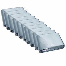10 Pack Emergency Solar Blanket Survival Safety Insulating Mylar Thermal Heat-10