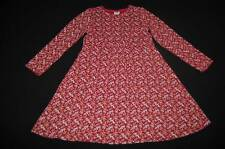 GYMBOREE Rocky Mountain Fall Knit Dress sz 5 5T Floral Print Rust Red A-line EUC