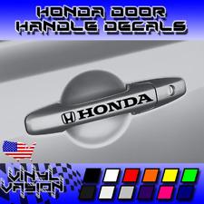4x HONDA Door Handle Decal Sticker Accord Civic Turbo Type S  R JDM VTEC