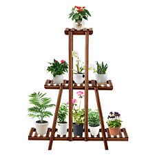 Multi Tier Plant Stand Wood Flower Rack Shelf Home Outdoor Garden Corner Display