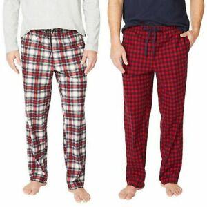Nautica Men's Fleece Pajama Pants Lounge Red Plaid 2-Pack Size L