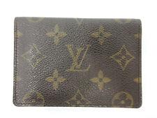 Auth Louis Vuitton Monogram Porte 2 Cartes Vertical M60533 Pass Case Good 97428