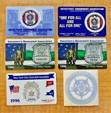 NYPD Police DEA PBA (5) Card and Decal Card Lot for 1996 and 1998